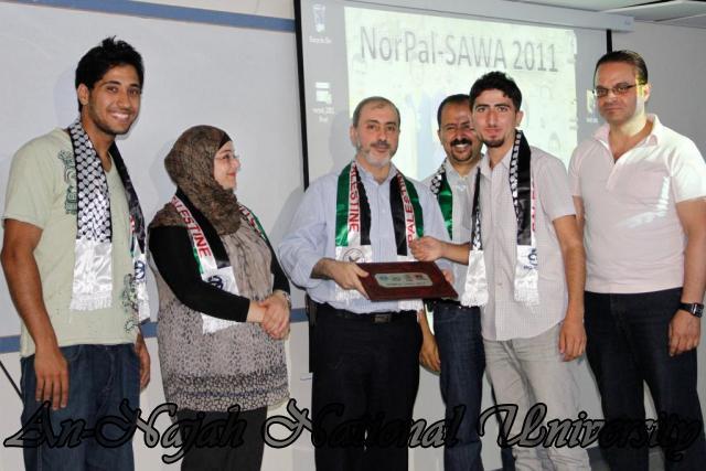 الحفل الختامي لمشروع NorPal SAWA 2011   كلية الطب 6