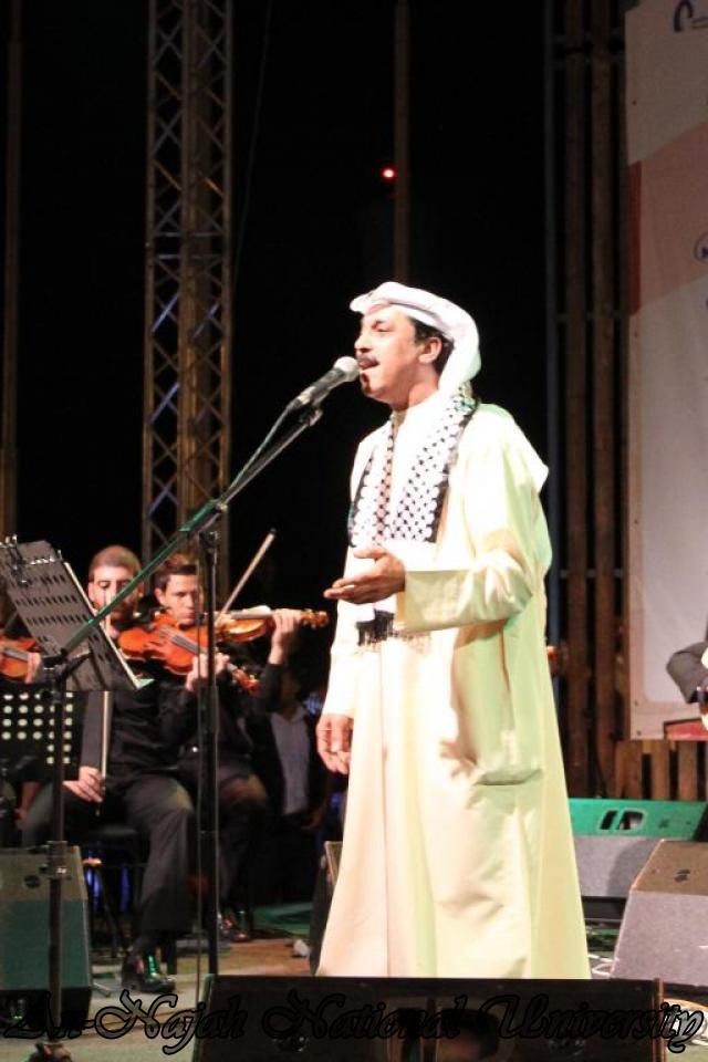 الفنان الكويتي الكبير عبد الله الرويشد يحي حفلة غنائية في جامعة النجاح الوطنية 15