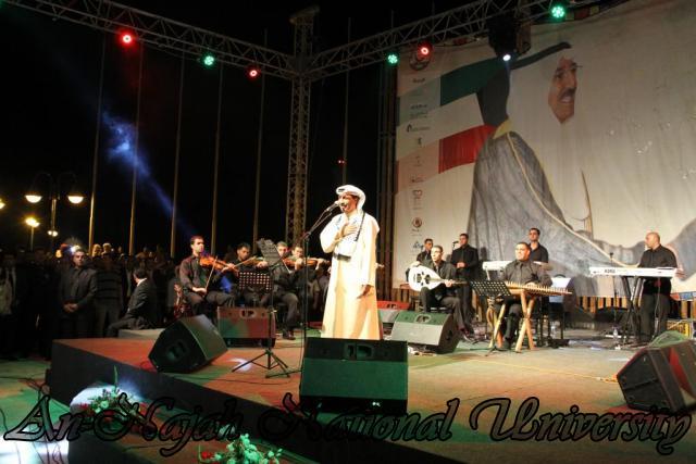 الفنان الكويتي الكبير عبد الله الرويشد يحي حفلة غنائية في جامعة النجاح الوطنية 17
