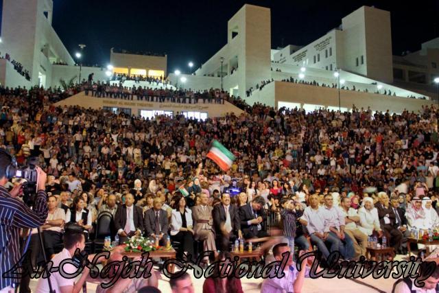 الفنان الكويتي الكبير عبد الله الرويشد يحي حفلة غنائية في جامعة النجاح الوطنية 34