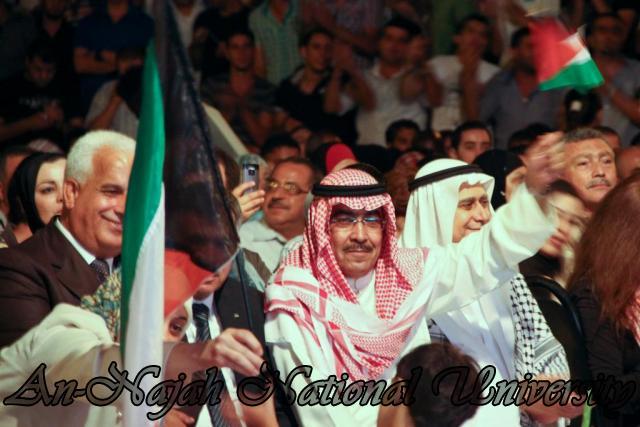 الفنان الكويتي الكبير عبد الله الرويشد يحي حفلة غنائية في جامعة النجاح الوطنية 38