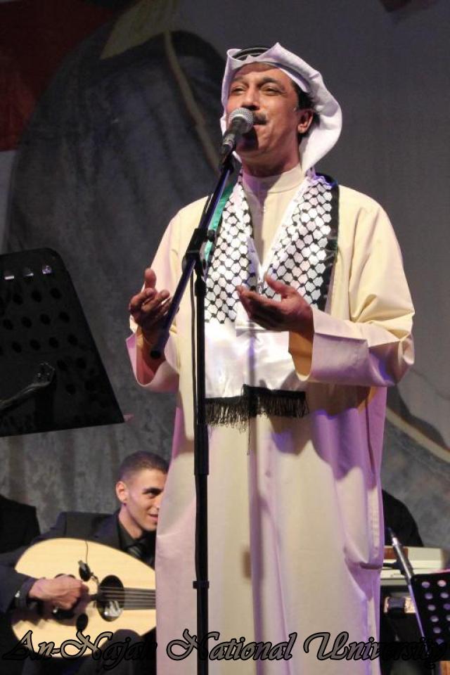 الفنان الكويتي الكبير عبد الله الرويشد يحي حفلة غنائية في جامعة النجاح الوطنية 39