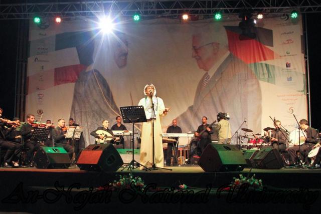 الفنان الكويتي الكبير عبد الله الرويشد يحي حفلة غنائية في جامعة النجاح الوطنية 40