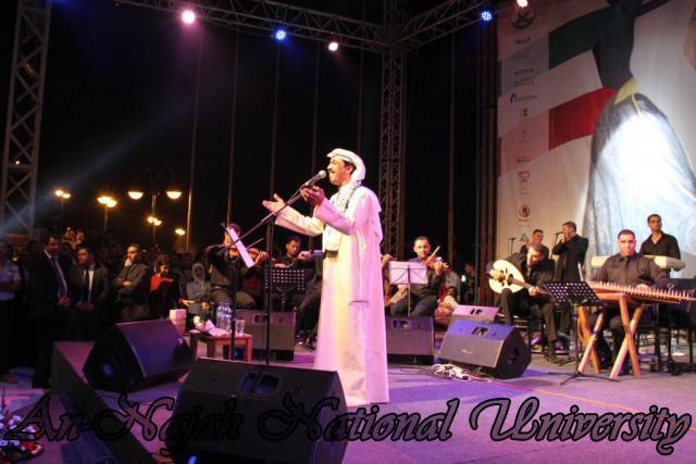 الفنان الكويتي الكبير عبد الله الرويشد يحي حفلة غنائية في جامعة النجاح الوطنية 43