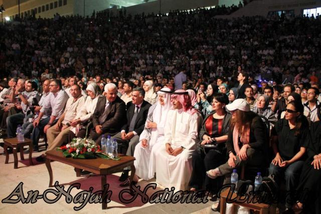 الفنان الكويتي الكبير عبد الله الرويشد يحي حفلة غنائية في جامعة النجاح الوطنية