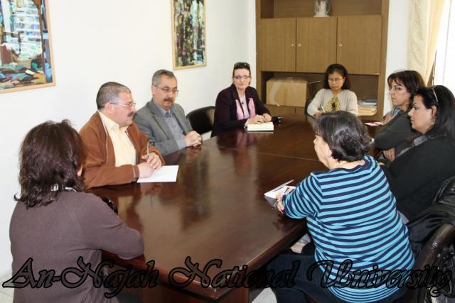 زيارة وفد من جامعة بيت لحم لاصحاب الحجات الخاصة