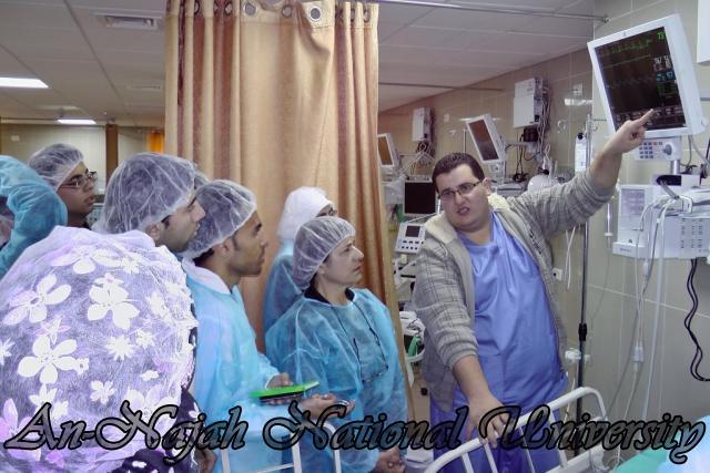 طلبة من قسم التمريض في الجامعة يزورون مستشفى رفيديا في نابلس 18