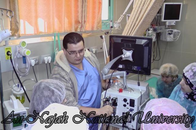 طلبة من قسم التمريض في الجامعة يزورون مستشفى رفيديا في نابلس 8