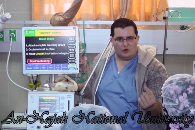 طلبة من قسم التمريض في الجامعة يزورون مستشفى رفيديا في نابلس 9