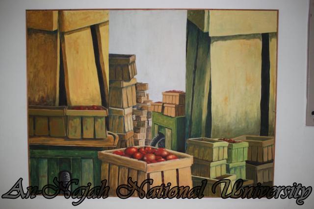 لوحات في كلية الفنون