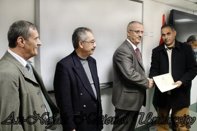 04.12.2011, حفل تكريم الاداريين   دورة تنمية الكفاءات باللغة الانجليزية 12