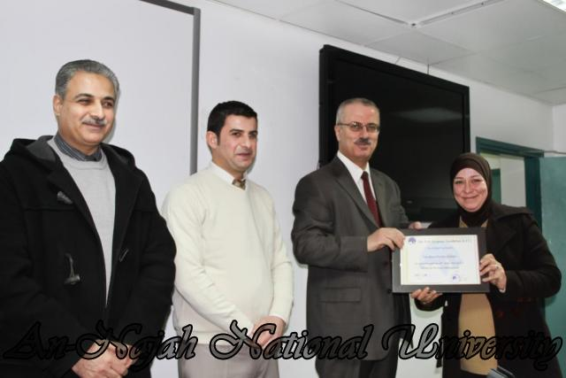 07.02.2012, حفل توزيع شهادات دورة العطاءات والمشتريات 15