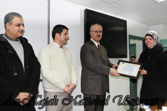 07.02.2012, حفل توزيع شهادات دورة العطاءات والمشتريات 16