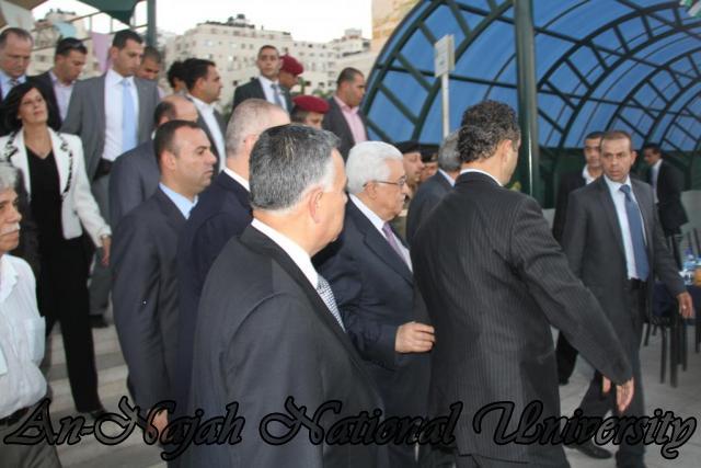 08.08.2012 زيارة فخامة السيد الرئيس محمود عباس لجامعة النجاح الوطنية 2