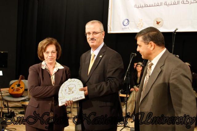 "09.04.2012 The University Inaugurates the Plastic Art Exhibition titled ""Hawajes"" 39"