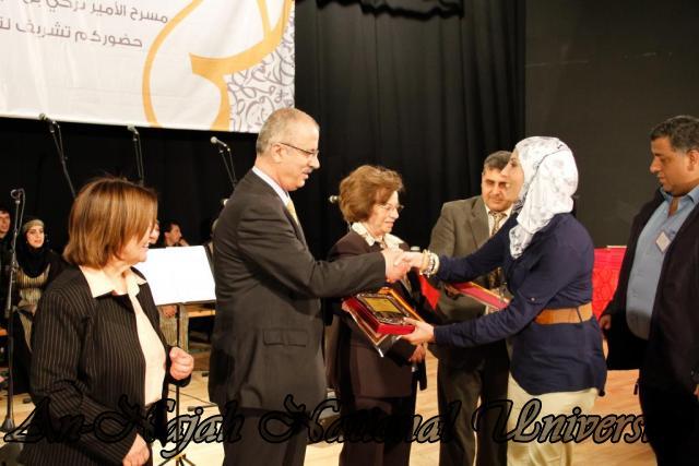 "09.04.2012 The University Inaugurates the Plastic Art Exhibition titled ""Hawajes"" 59"