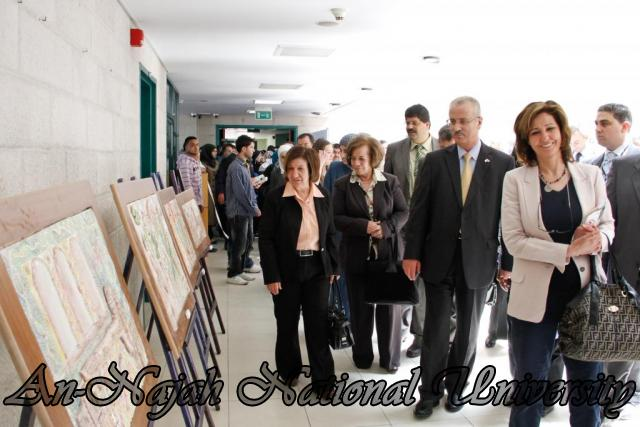 "09.04.2012 The University Inaugurates the Plastic Art Exhibition titled ""Hawajes"" 76"