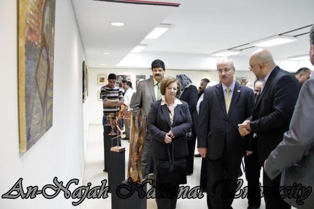 "09.04.2012 The University Inaugurates the Plastic Art Exhibition titled ""Hawajes"" 79"