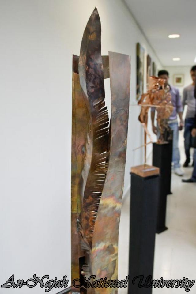 "09.04.2012 The University Inaugurates the Plastic Art Exhibition titled ""Hawajes"" 83"