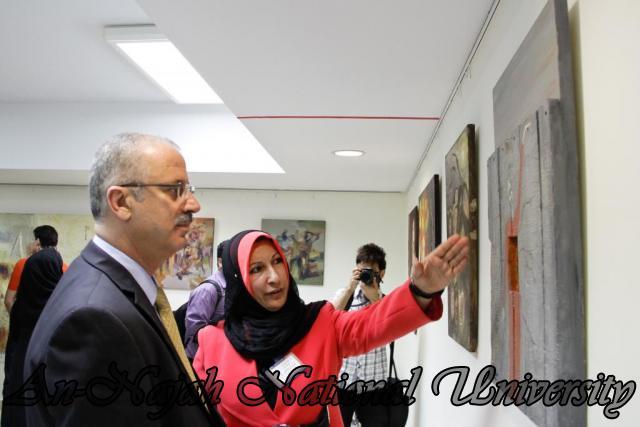 "09.04.2012 The University Inaugurates the Plastic Art Exhibition titled ""Hawajes"" 84"