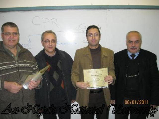 دورة في الاسعاف الأولي في حرم جامعة النجاح الوطنية