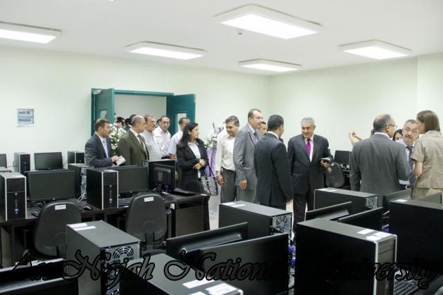 12.07.2012 افتتاح مركز الحاسوب والمحكمة الصورية في كلية القانون 6