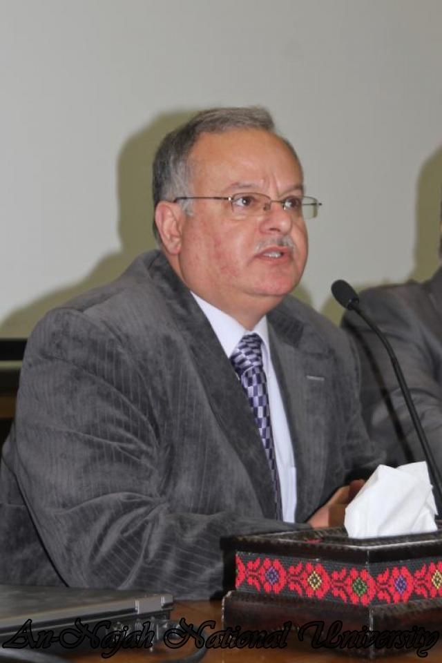 22.03.2011, محاضرة  الدكتور احمد مجدلاني وزير العمل 1